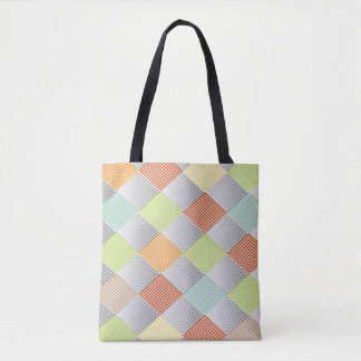 Pastel Diamond Pattern All-over-Print Tote Bag