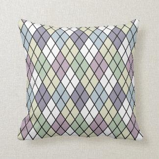 Pastel Diamonds Argyle Throw Pillow