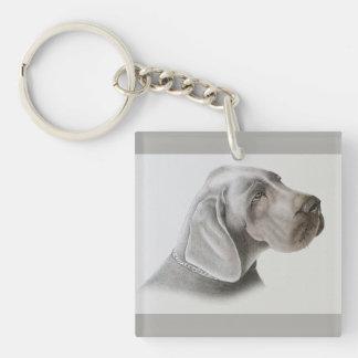 Pastel Dog Drawing Key Ring