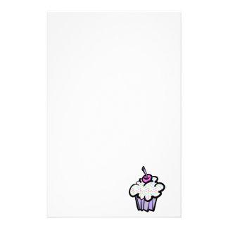 pastel dots cupcake custom stationery