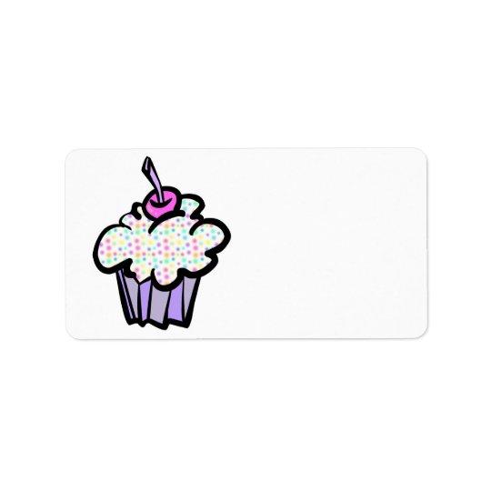 pastel dots cupcake label