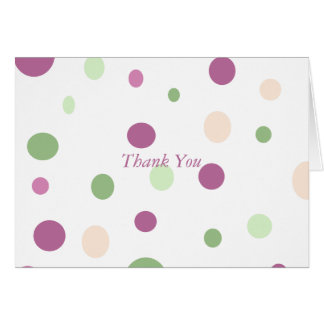 Pastel Dots - Customized Greeting Card
