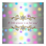 Pastel Dots Princeess Baby Shower 13 Cm X 13 Cm Square Invitation Card