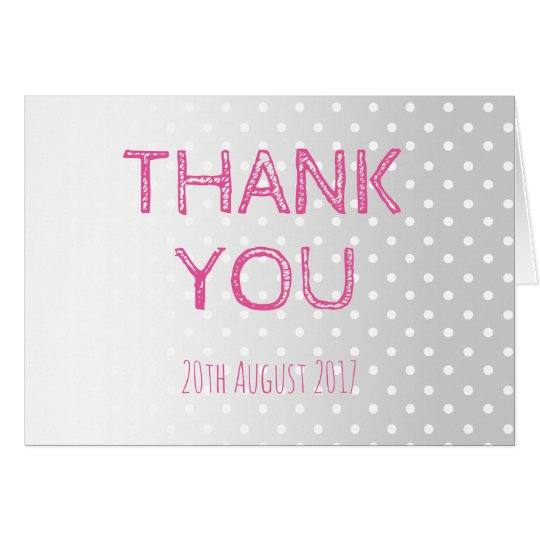 Pastel Dots Vintage Wedding Thank You Card
