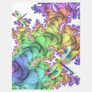 Pastel Dragonflies Fleece Blanket
