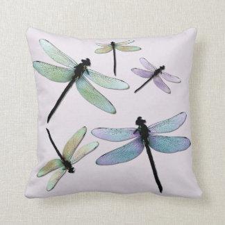 Pastel Dragonflies Pillow