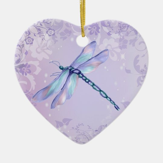 Pastel Dragonfly Christmas Ornament