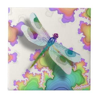 Pastel Dragonfly Tile