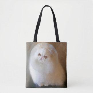 Pastel Drawing-Chip-Persian Cat-Tote Bag