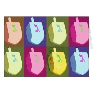 Pastel Dreidel Hanukkah Card