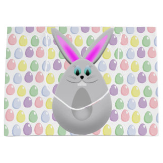 Pastel Easter Bunny Eggs Large Gift Bag