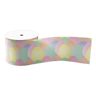 Pastel Easter eggs ribbon Grosgrain Ribbon