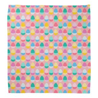 Pastel Easter Eggs Two-Toned Multi on Blush Pink Bandana