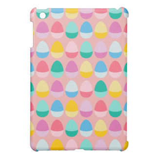 Pastel Easter Eggs Two-Toned Multi on Blush Pink Cover For The iPad Mini