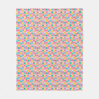 Pastel Easter Eggs Two-Toned Multi on Blush Pink Fleece Blanket