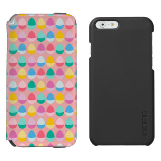 Pastel Easter Eggs Two-Toned Multi on Blush Pink Incipio Watson™ iPhone 6 Wallet Case