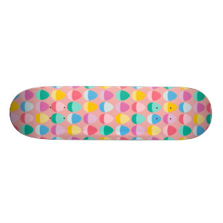 Pastel Easter Eggs Two-Toned Multi on Blush Pink 19.7 Cm Skateboard Deck