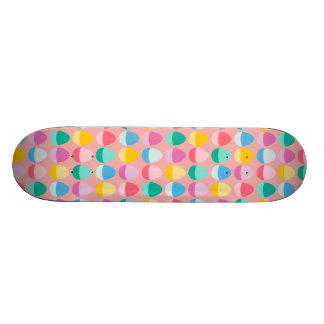 Pastel Easter Eggs Two-Toned Multi on Blush Pink Skate Board Decks