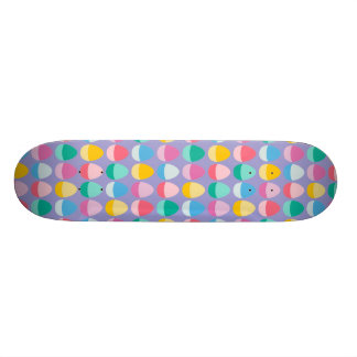 Pastel Easter Eggs Two-Toned Multi on Lilac Skate Decks