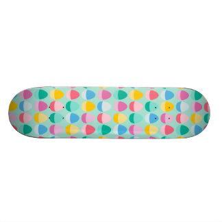 Pastel Easter Eggs Two-Toned Multi on Mint Skate Board Decks