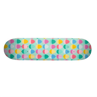 Pastel Easter Eggs Two-Toned Multi on Mint 20.6 Cm Skateboard Deck