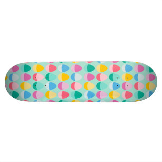 Pastel Easter Eggs Two-Toned Multi on Mint Skateboard