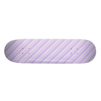 Pastel Easter Stripes 21.3 Cm Mini Skateboard Deck