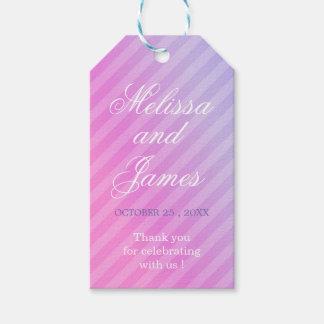 Pastel Elegant Pink Lilac Thank You Gift tags