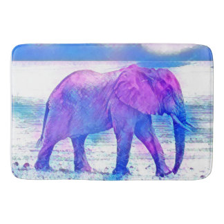 Pastel Elephant Bath Mat