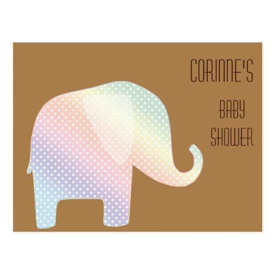 pastel elephant postcard