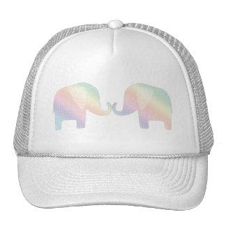 pastel elephants cap
