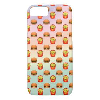 Pastel Emoji Burger and Fries iPhone 7 Case