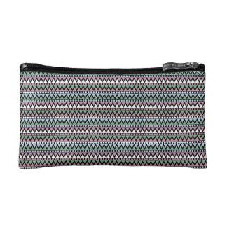 Pastel Ethnic/Aztec Print Cosmetic Bag