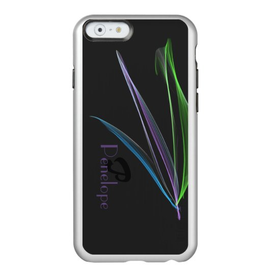 Pastel Feathers Abstract Personalised Monogrammed Incipio Feather® Shine iPhone 6 Case