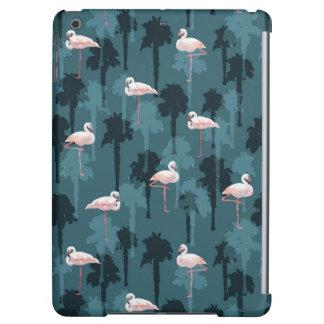 Pastel Flamingos On Teal iPad Air Cover
