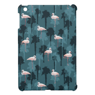 Pastel Flamingos On Teal iPad Mini Cases