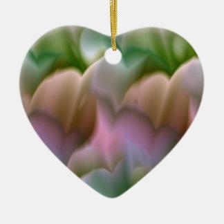 Pastel Floral Heart Ornament