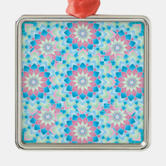 Pastel Floral Kaleidoscope Ornaments