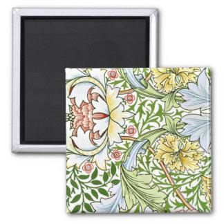 Pastel Floral Pattern Magnet