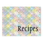 Pastel Floral Recipe Card Post Card
