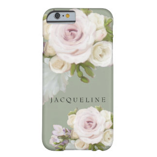 Pastel Floral Roses Freesia Flowers Hand Painted Barely There iPhone 6 Case