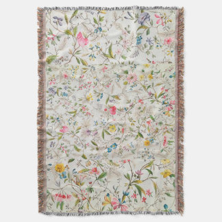 Pastel Floral Throw