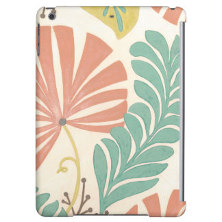 Pastel Floral Vines and Leaves on Cream Background