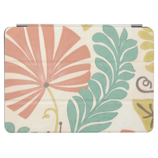 Pastel Floral Vines and Leaves on Cream Background iPad Air Cover
