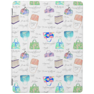 Pastel Floral Watercolor Illustrations Typography iPad Cover