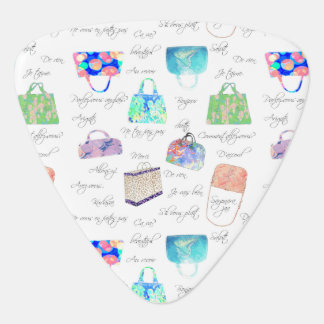 Pastel Floral Watercolor Illustrations Typography Plectrum