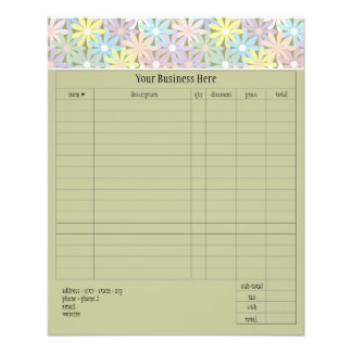 Pastel Florals Small Order Form 11.5 Cm X 14 Cm Flyer