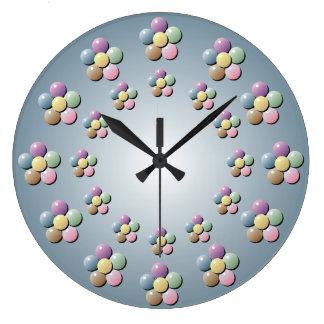 Pastel Flower Beads Wall Clock