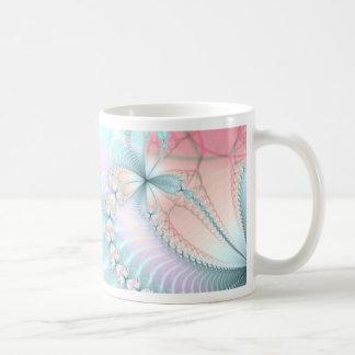 pastel flower chains coffee mugs