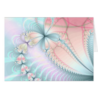 pastel flower chains greeting card